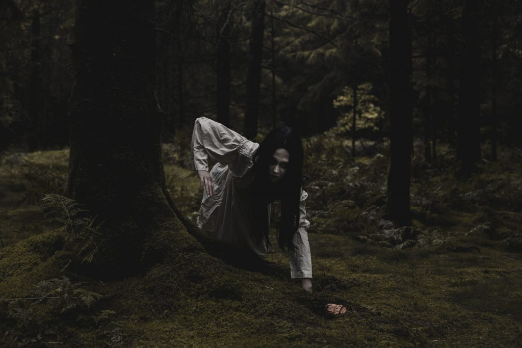 Creepy Ghost In White Dress With Long Black Hair - Inspired By Samara From The Ring Eerie Horror Photography