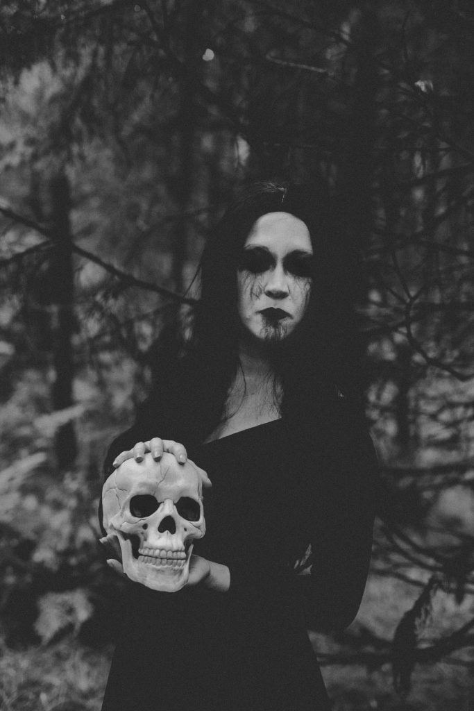 Sinister horror photography