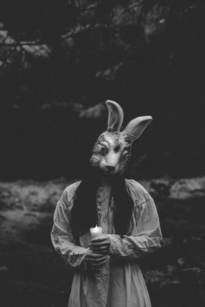 Rabbit Mask Horror Photography