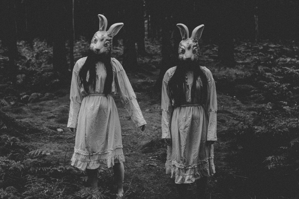 Horror Photoshoot Of Evil Rabbit Twins
