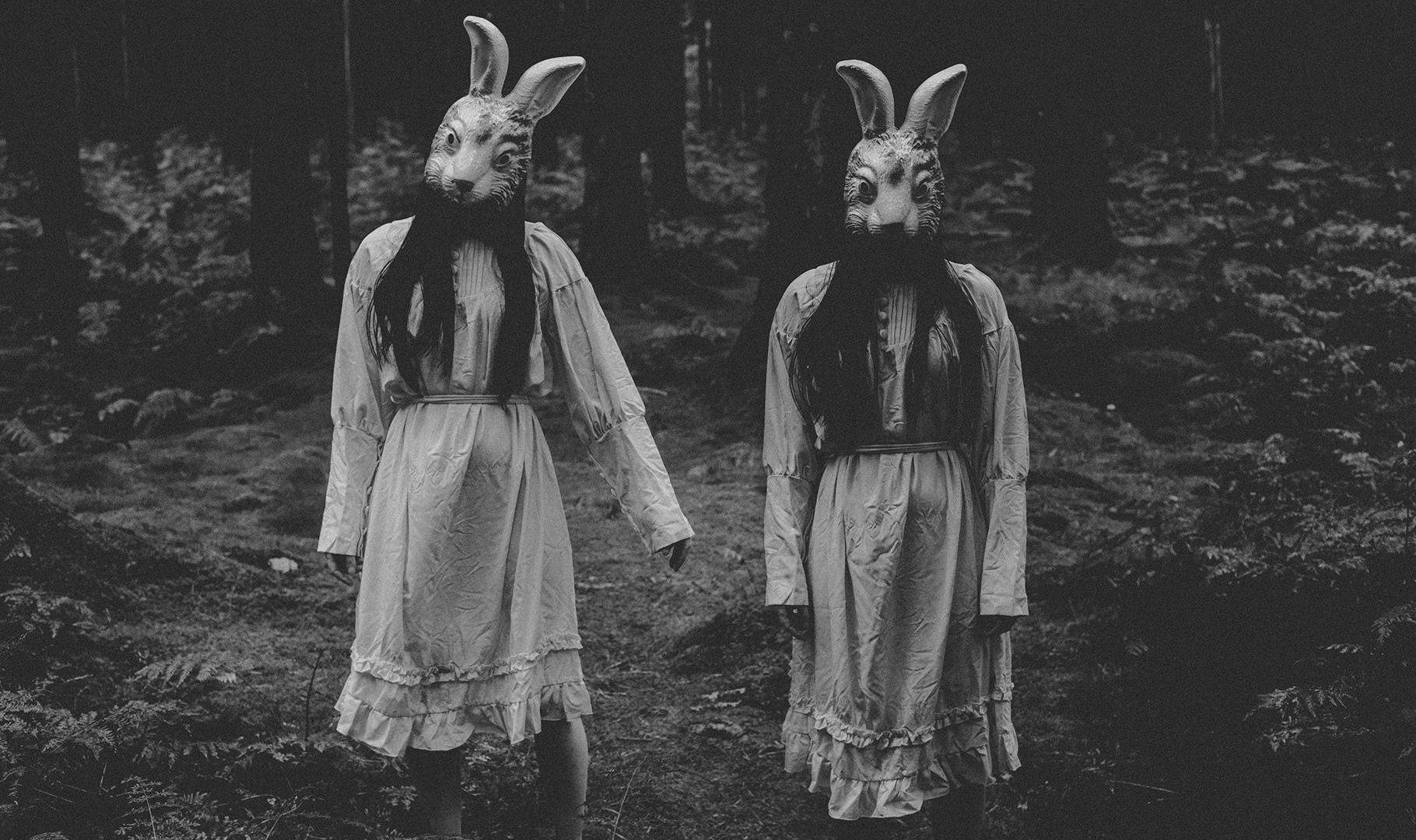 Rabbit Mask Horror Photography